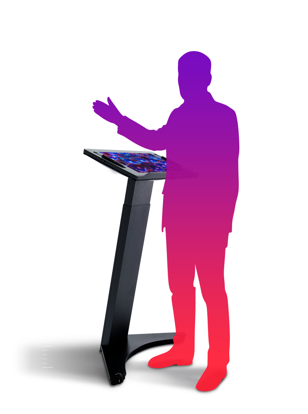 clear digital podium presenter